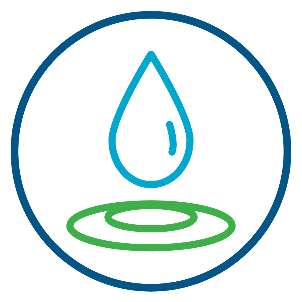 Drop of water icon symbolizing baptism