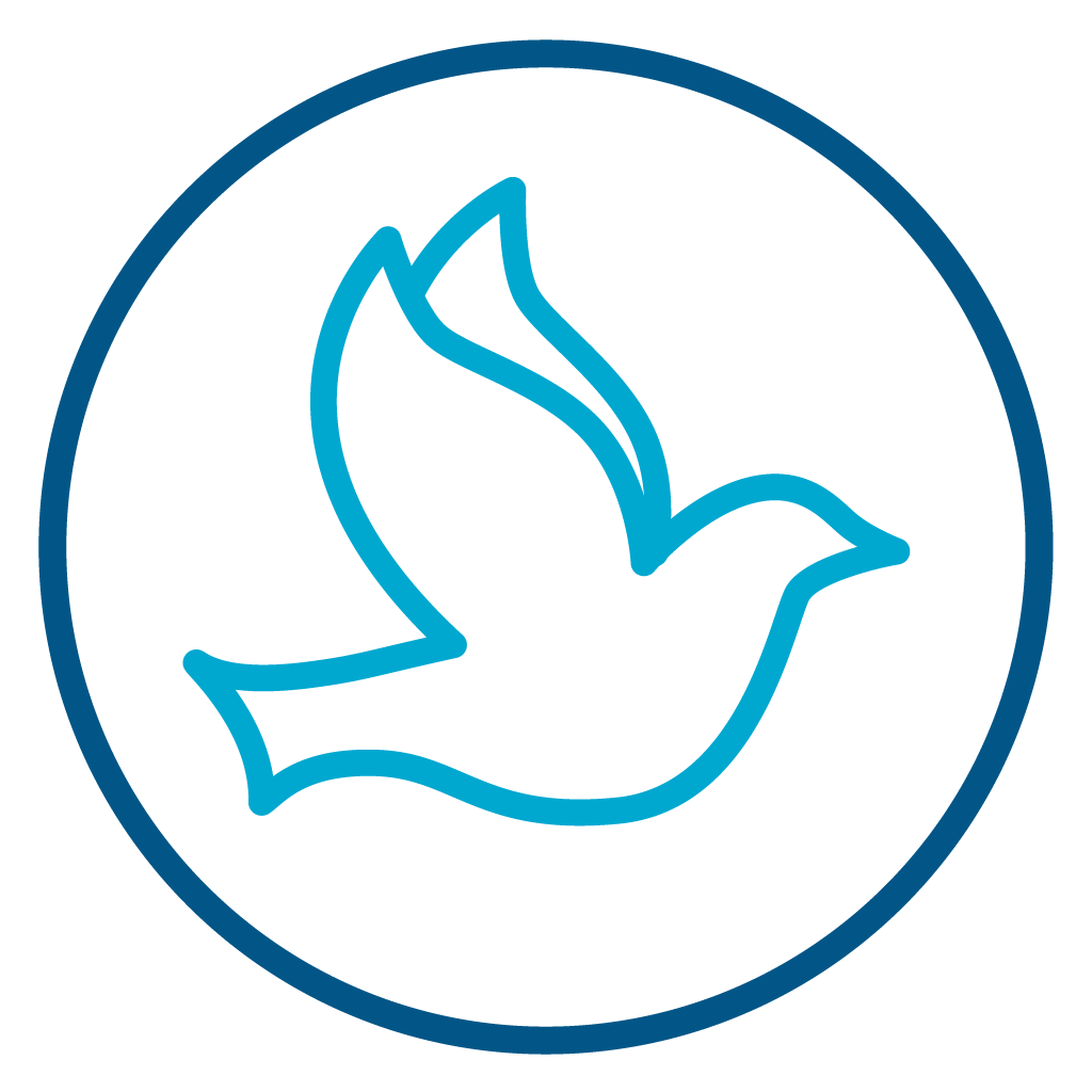 Dove Icon Symbolizing the Holy Spirit