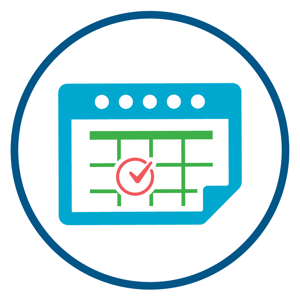 Calendar icon symbolizing scheduling